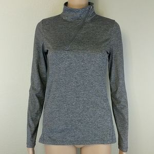 [Lorna Jane] Diagonal 1/4 Zip Up Pocket Pullover